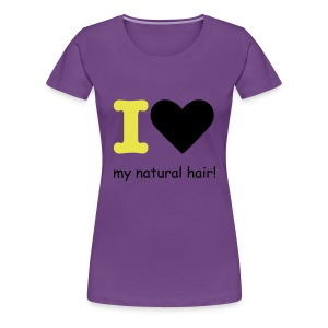 I love my natural hair - yellow and black - premium tee - Women's Premium T-Shirt