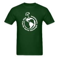 T-Shirts ~ Men's T-Shirt ~ The Earth Farts Through Volcanoes Geology Shirt