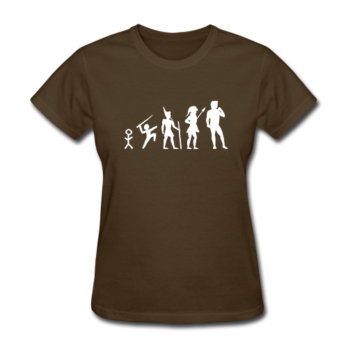 The Evolution of Art Shirt - Copyright K. Loraine - Women's T-Shirt
