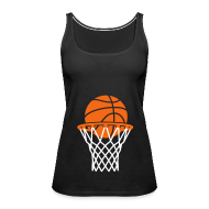 Tanks ~ Women's Premium Tank Top ~ Maternity Basketball (non maternity shirt)