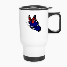 Australian Flag Butterfly Bottles & Mugs