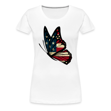 American Butterfly Women's T-Shirts