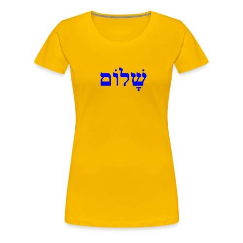 Shalom Women's Premium T-Shirt - Women's Premium T-Shirt
