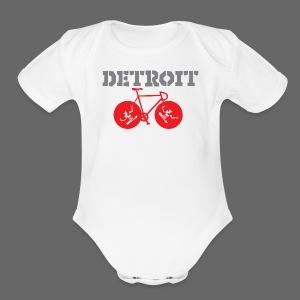 Bike Detroit  - Short Sleeve Baby Bodysuit
