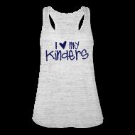 Tanks ~ Women's Flowy Tank Top by Bella ~ Love My Kinders   Navy   Teacher Shirts