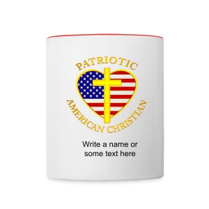Patriotic American Christian Coffee Mug - Contrast Coffee Mug