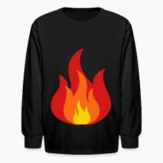Fire, Flames Kids' Shirts
