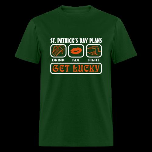 Plans for St. Patrick's Day Shirt - Men's T-Shirt
