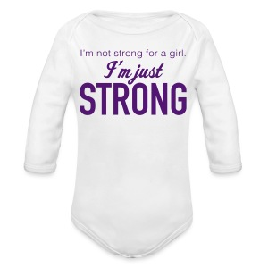 Strong Long Sleeve One Piece - Long Sleeve Baby Bodysuit