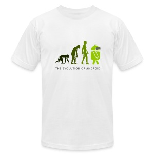 The Evolution of Android (Men's T-Shirt by American Apparel) - Men's Fine Jersey T-Shirt