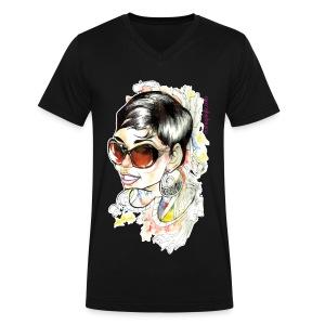 Men's Mimi G - Men's V-Neck T-Shirt by Canvas