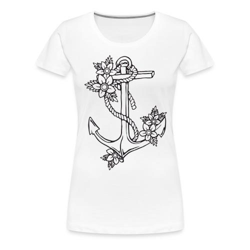 Anchor Flower Tee - Women's Premium T-Shirt