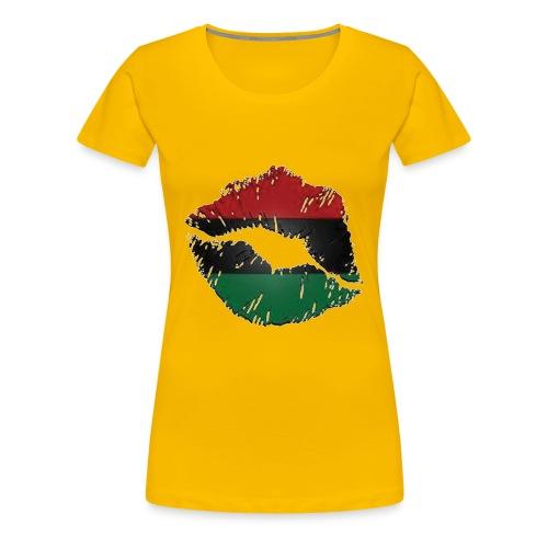African lips   premium tee - Women's Premium T-Shirt