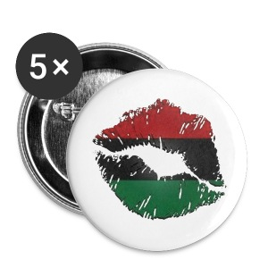 African lips button - Large Buttons