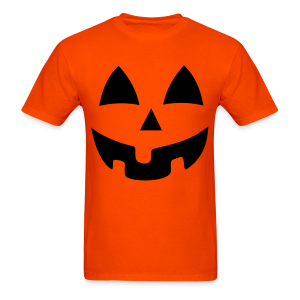 Halloween Jack-O-Lantern Pumpkin Face Shirt Costume - Men's T-Shirt