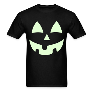 Halloween Jack-O-Lantern Pumpkin Face Shirt Costume Glow In the Dark - Men's T-Shirt