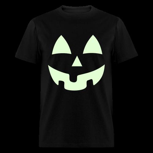 Halloween Jack-O-Lantern Pumpkin Face Shirt Costume Glow In the Dark - Men's T-Shirt