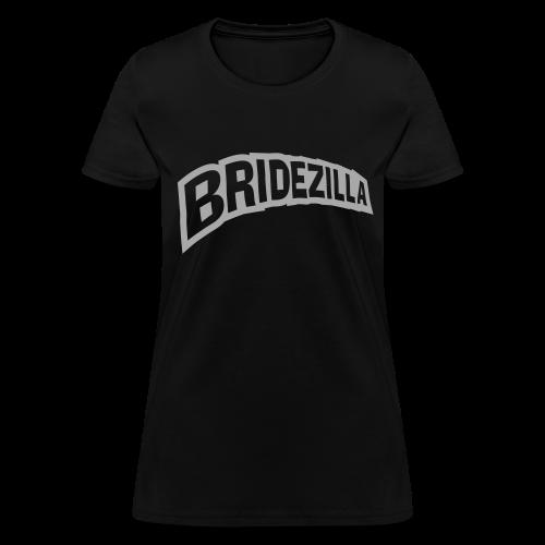 Bridezilla Silver Glitter Shirt - Women's T-Shirt