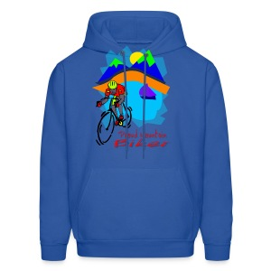 Mountain Biker Hooded Sweatshirt - Men's Hoodie