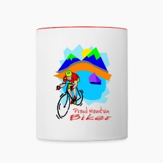 Proud Mountain Biker Bottles & Mugs