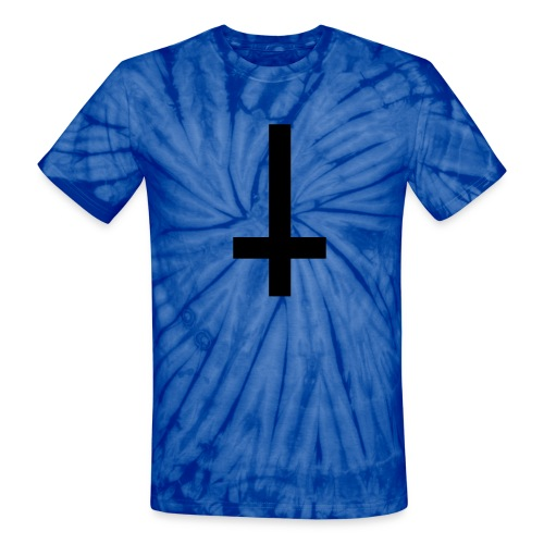 Arctic Tie Dye Upside Down Cross - Unisex Tie Dye T-Shirt