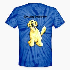 Happy Golden Retriever - Dog - Dogs T-Shirts