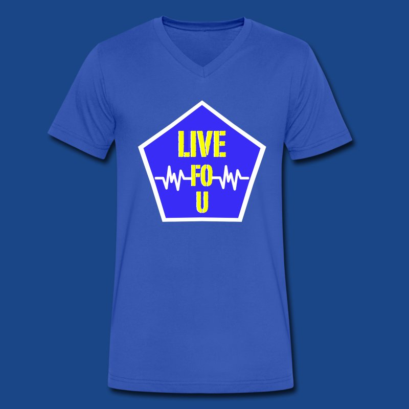 LIVE FO U T SHIRT BY RONALD RENEE - Men's V-Neck T-Shirt by Canvas