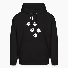 Paws, Pawprints Hoodies