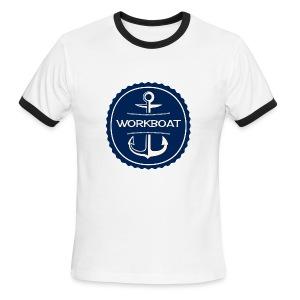 Classic Workboat Wear Logo Ringer Tee - Men's Ringer T-Shirt