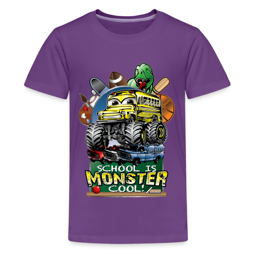 Monster School Bus FRONT - Kids' Premium T-Shirt