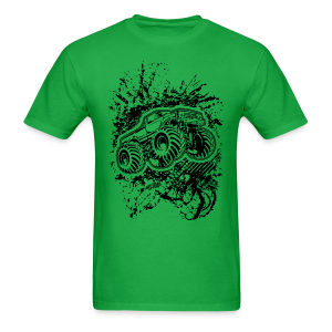 Grunge Monster Truck FRONT - Men's T-Shirt