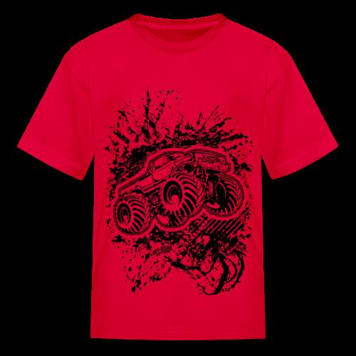 Grunge Monster Truck FRONT - Kids' T-Shirt