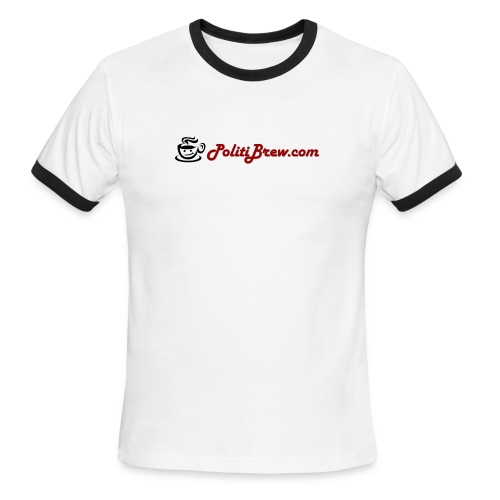 PolitiBrew.com  Logo Shirt - Men's Ringer T-Shirt