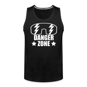 Dangerzone Tank (White Text) - Men's Premium Tank