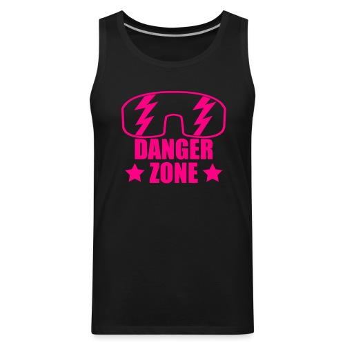Dangerzone Tank (Neon Pink Text) - Men's Premium Tank