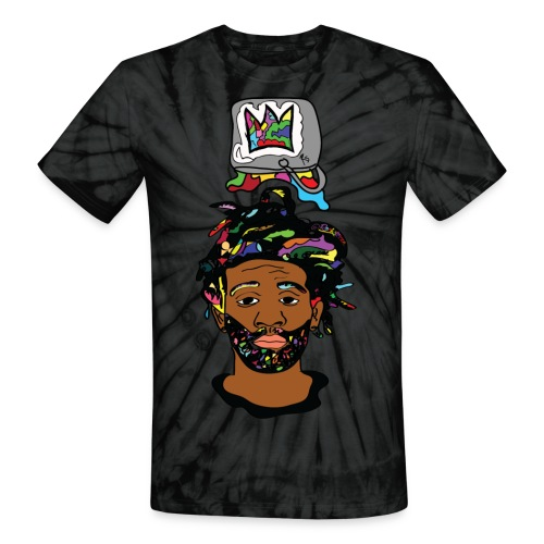 Rocksteeze Paint Bucket Crown  - Unisex Tie Dye T-Shirt