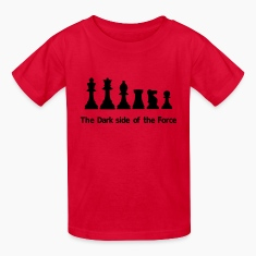 The dark side of the Force, chess, pawns Kids' Shirts