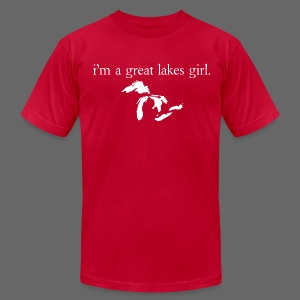 I'm A Great Lakes Girl  - Men's T-Shirt by American Apparel