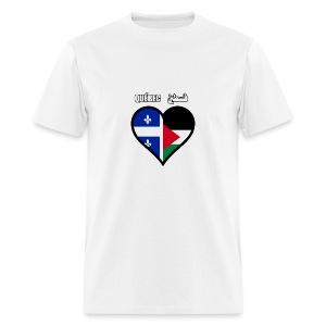 Québec - Palestine فلسطين - T-shirt pour hommes