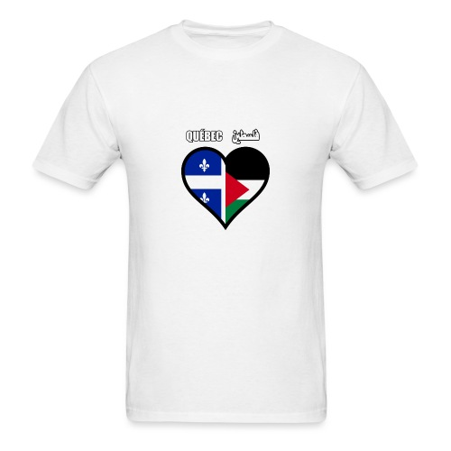Québec - Palestine فلسطين - Men's T-Shirt
