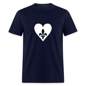 Coeur du Québec - T-shirt pour hommes