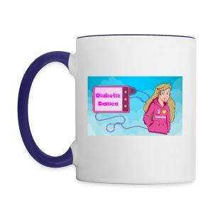DiabeticDanica Logo Mug  - Contrast Coffee Mug