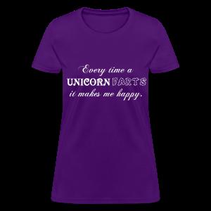 Unicorn Farts Make Me Happy Shirt - Women's T-Shirt
