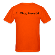 T-Shirts ~ Men's T-Shirt ~ Men's FRONT/BACK: CC/Steve(s) (orange)