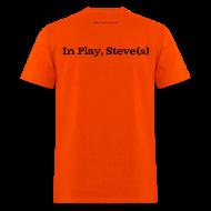 T-Shirts ~ Men's T-Shirt ~ Men's FRONT/BACK: CC/Steve(s) (orange)