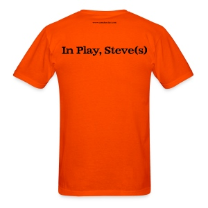 Men's FRONT/BACK: CC/Steve(s) (orange) - Men's T-Shirt