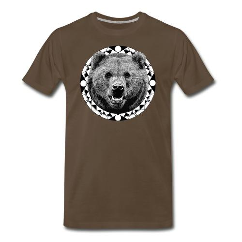 Bear Face Nature - Men's Premium T-Shirt