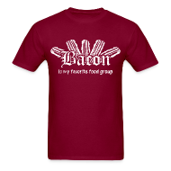 T-Shirts ~ Men's T-Shirt ~ Bacon is my Favorite Food Group Shirt