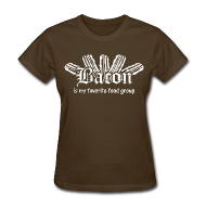 T-Shirts ~ Women's T-Shirt ~ Bacon is my Favorite Food Group Shirt