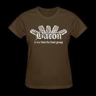 Women's T-Shirts ~ Women's T-Shirt ~ Bacon is my Favorite Food Group Shirt